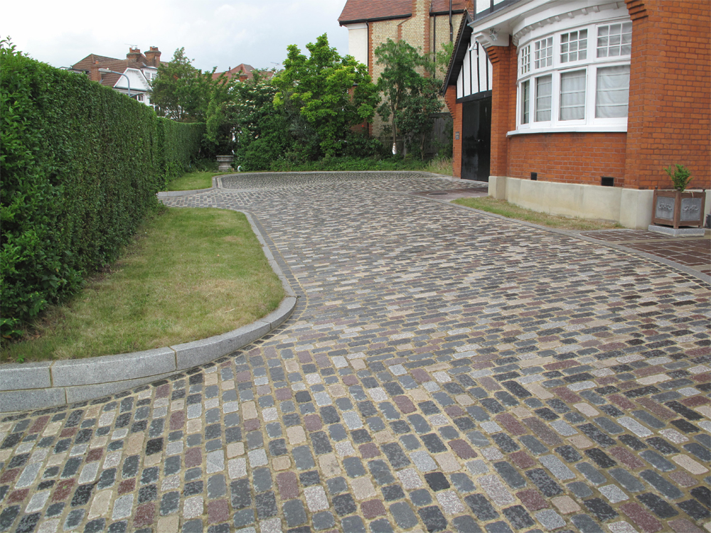 Temple Sett Driveway. Mix of all seven colours. Private House' designed and built by the Home owner.
