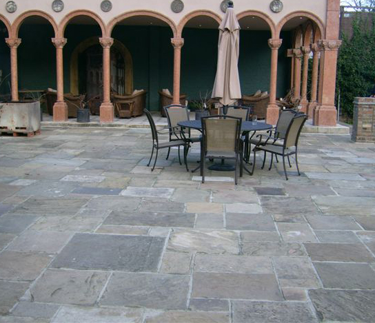 Reclaimed Yorkstone Flags' Private House. Designer - Paul Crowther. Contractor - 21st century group.