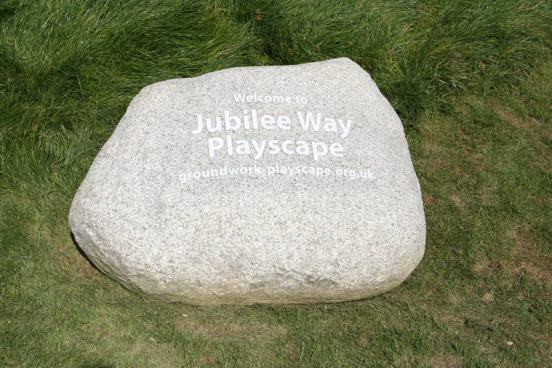 Caledonian Boulder at Jubilee Way Playscape 2008.