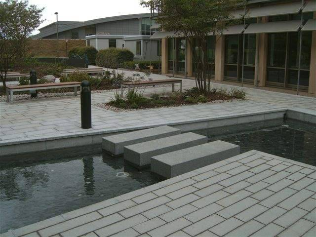 Silver Grey Granite Paving' EBI Hinxton' Cambridge.
