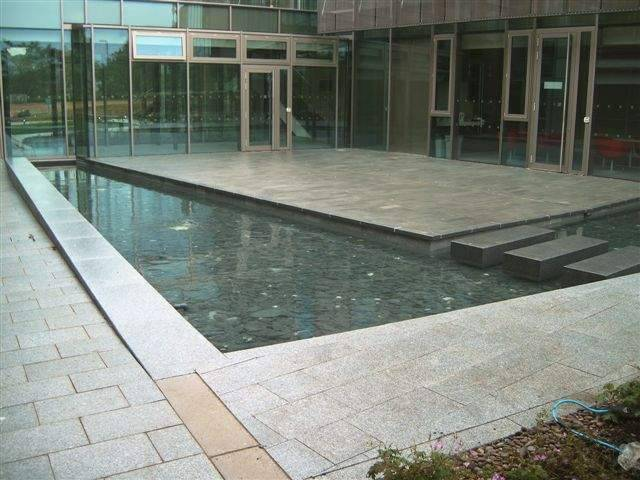 Silver Grey Granite' EBI Hinxton' Cambridge.