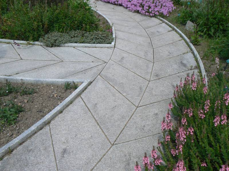 Silver Grey Granite Paving at the National Botanical Gardens of Wales.