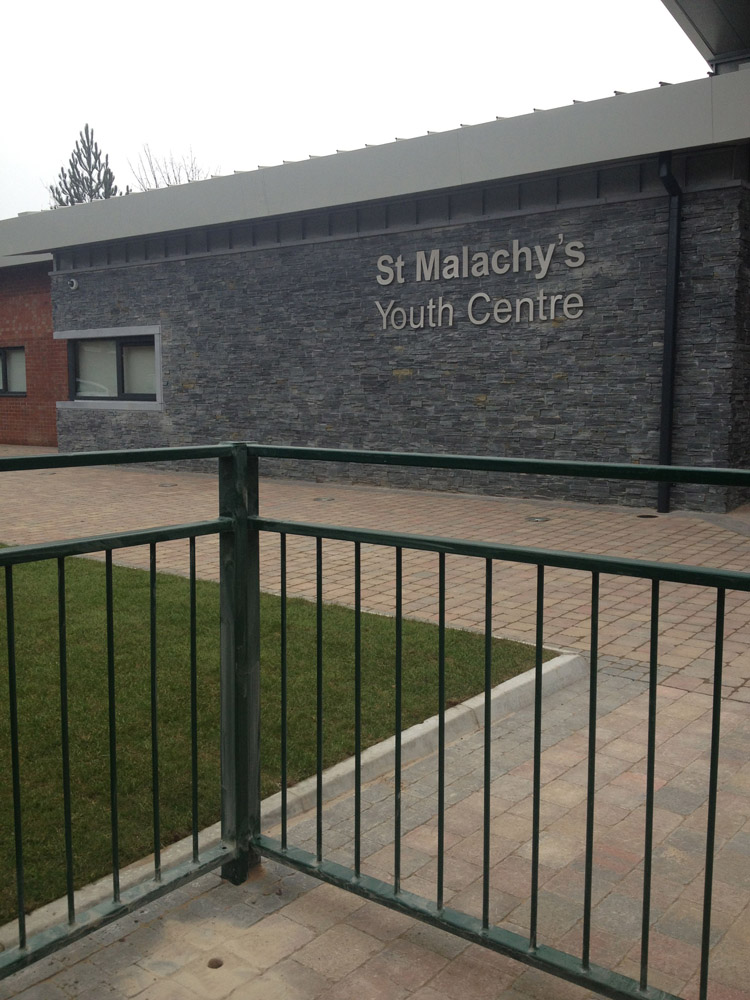 Black Slate Tier Walling at a Youth Centre' Belfast.