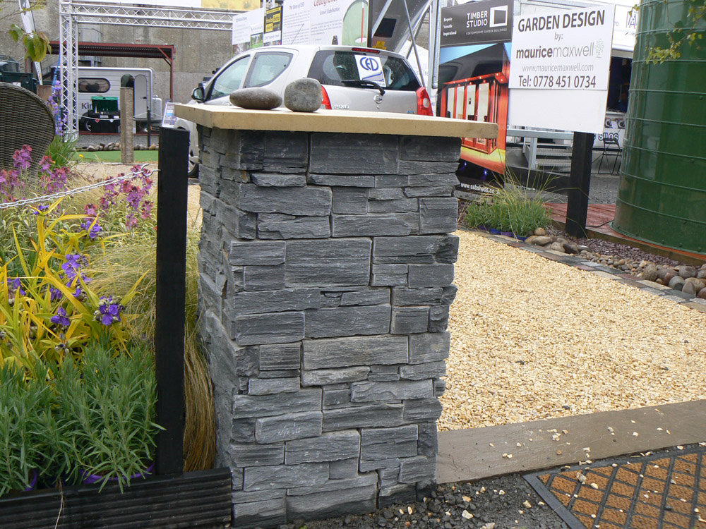 Black slate Tier at the Balmoral Show. For further images and information of this garden please visit our Private Places-Show Gardens Gallery.