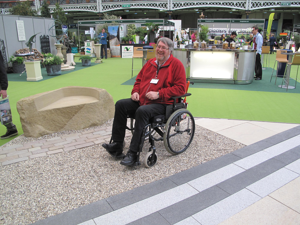 Cedagravel® demonstration on the CED stand at Landscape Show' Olympia 2012