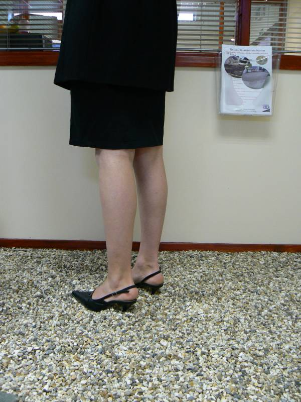 Heels demonstration without Cedagravel®.