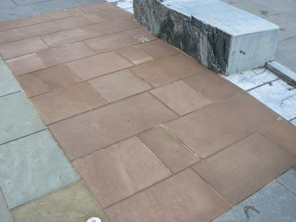<p>Red Sandstone</p>  <p>S19/179/1938</p>  <p>Sawn</p>  <p>415mm (400mm standard width) x 50mm thick x RL</p>  <p>This paving is readily available</p>