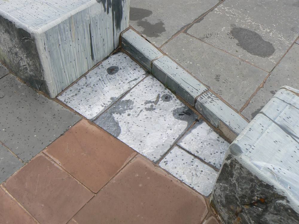 <p>Ashburton Marble</p>  <p>S2/59229/2039</p>  <p>Sawn</p>  <p>300mm wide x 300-600mm long x 50mm deep</p>  <p>(pictured here with spots of rain)</p>