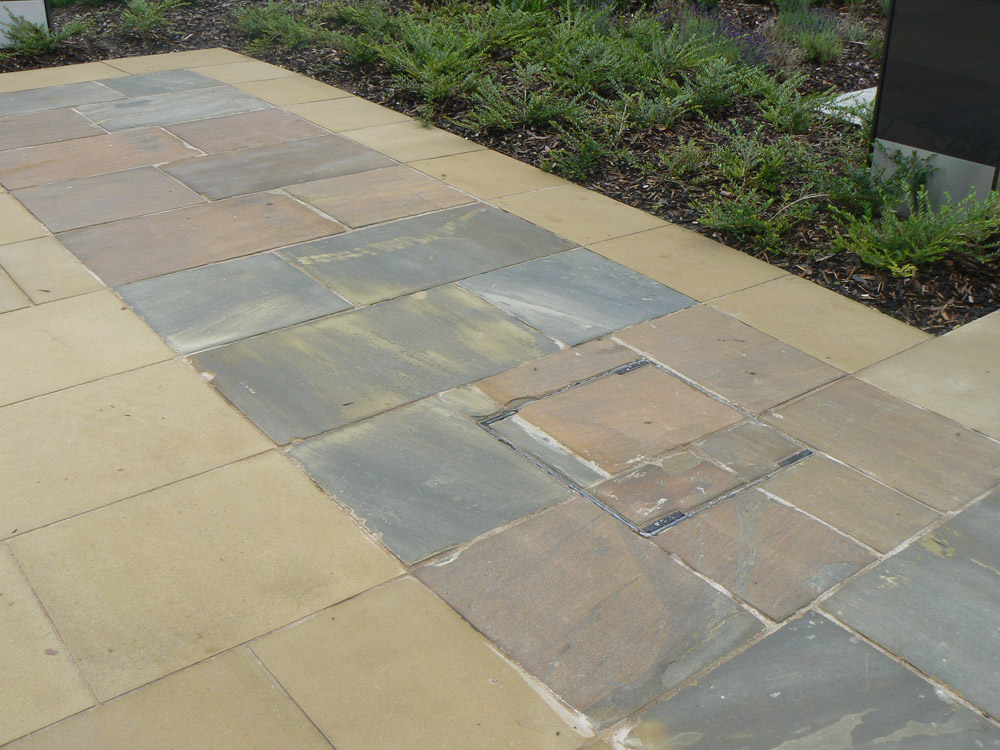 <p>Yorkstone Flags</p>  <p>  S35/1056/1218</p>  <p>  Self-faced</p>  <p>  600mm x 38/75mm x RL</p>  <p>  This paving is readily available</p>