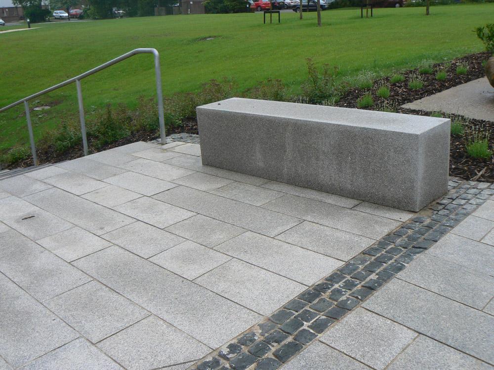 <p>Northern Irish Mourne Granite (pictured here when wet)</p>  <p>S282/21283/1652</p>  <p>Sawn &amp; flame textured</p>  <p>300mm x 30mm x RL</p>